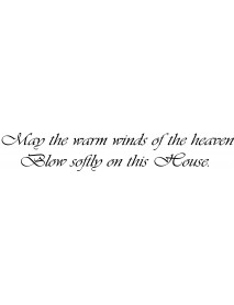 May the warm...
