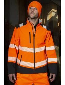 Safety softshell takki, oranssi-musta