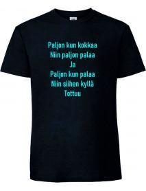 Paljon kun kokkaa T-paita