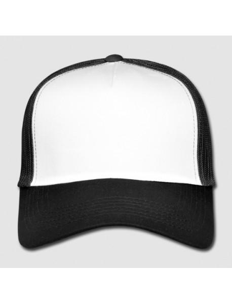 Snapback Trucker-lippis,  musta valkoinen