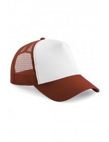 Snapback Trucker-lippis, puna valkoinen