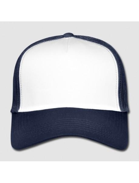 Snapback Trucker-lippis,  sini valkoinen