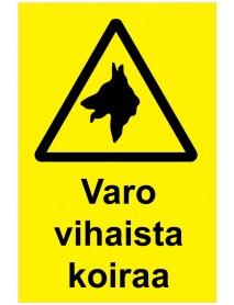 Varo vihaista koiraa